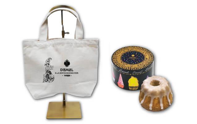 期間限定の催事のお菓子とトートバッグの写真